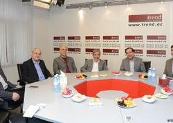 """İranın media mütəxəssislərinin nümayəndə heyəti """"Trend"""" BİA-nın qonağı olub - FOTO"""