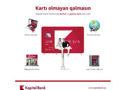 Kapital Bank müştərilərə pulsuz kartlar təklif edir