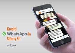 Unibankdan krediti WhatsApp-la götür!