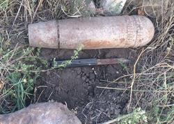 Qazaxda top mərmisi tapıldı - FOTO