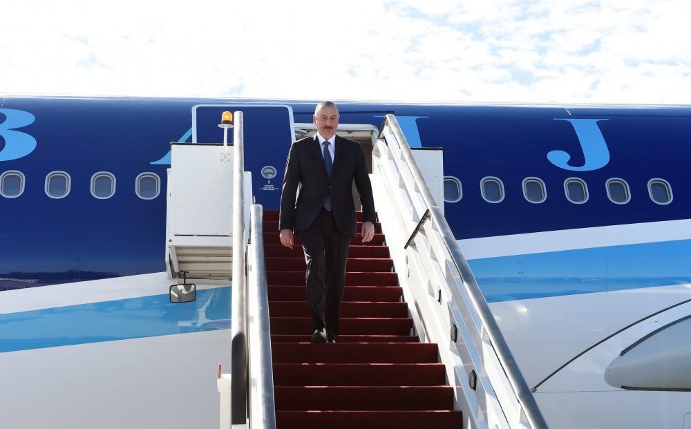 Prezident İlham Əliyev Latviyaya rəsmi səfərə gəlib - FOTOLAR