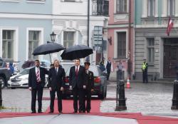 Prezident İlham Əliyev Azərbaycan-Latviya biznes forumunda iştirak edib - YENİLƏNİB - FOTO