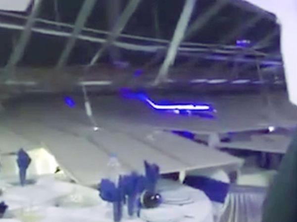 Toy mərasimi zamanı tavan uçdu: yaralılar var - VİDEO - FOTO