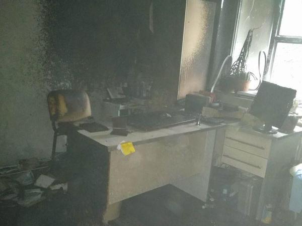 Qax Mərkəzi Rayon Xəstəxanasında yanğın olub - FOTO