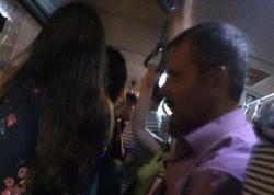 Bakı avtobusunda kişinin qadına qarşı əxlaqsızlığı - FOTO