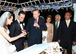Ərdoğan və baş nazir nikah şahidi oldular - FOTO