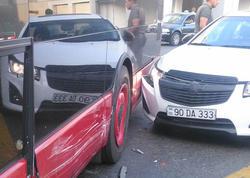 Bakıda avtobus qəza törədib - FOTO