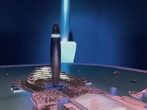 Dubayda dənizin ortasında 134 metrlik qüllə tikiləcək