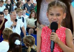 Azərbaycanlı uşaq canlı yayımda sualı ilə Putini güldürdü - VİDEO