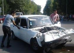 """""""VAZ-2107"""" və """"Opel"""" toqquşdu: <span class=""""color_red"""">yaralılar var - FOTO</span>"""