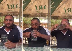 """Bir bakal araq içən taksi sürücüsü: """"Allahın adı ilə pis iş görməmişəm..."""" - VİDEO"""