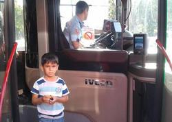 Bakıda itən uşaq avtobusda tapıldı - FOTO