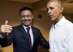 """""""Barselona"""" prezidenti Barak Obama ilə görüşdü"""