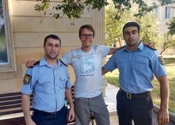 """Əcnəbi turist: """"Azərbaycan polisinin şücaəti və operativliyi məni valeh edib"""" - FOTO"""