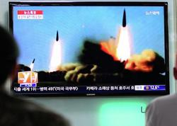 """Şimali Koreya növbəti dəfə ballistik raketi sınaqdan keçirib - <span class=""""color_red"""">Yaponiyanın iqtisadi zonası istiqamətində</span>"""