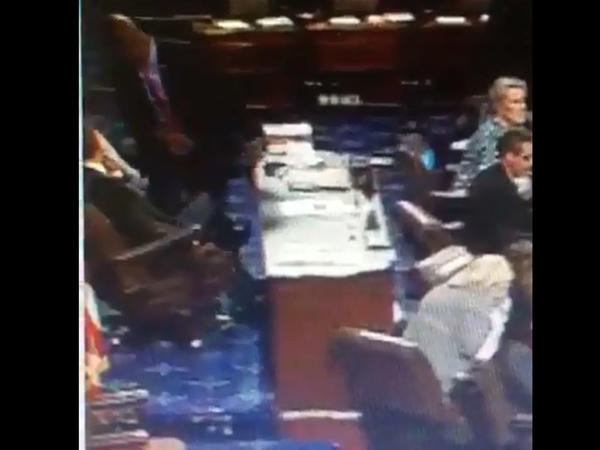 Jurnalistin noutbuku ABŞ senatorunun başına düşdü - VİDEO