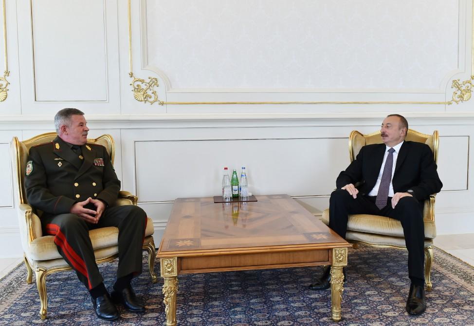 Prezident İlham Əliyev Belarus Dövlət Sərhəd Komitəsinin sədrini qəbul edib - FOTO
