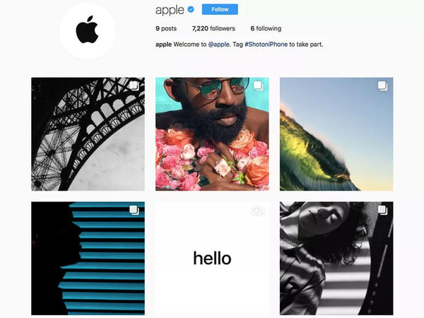 """Apple"" ""Instagram""da"