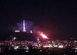 Tbilisidəki Mtasminda parkında güclü yanğın
