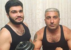 Rafael İsgəndərov oğlu ilə - FOTO