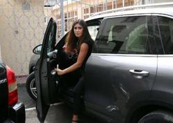 """Pərvin Abıyeva yeni """"Porsche""""si ilə - FOTO"""