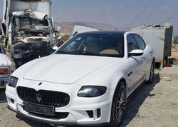"""Azərbaycanlı futbolçunun """"Maserati""""si cərimə meydançasına aparıldı - FOTO"""