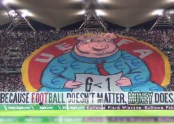 Azarkeşlər UEFA-nı donuza bənzətdilər
