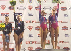 Gimnastlarımız Minskdə medal qazandılar