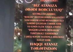 Bu restoranda şəhid övladlarının ad günü pulsuz qeyd edilir - VİDEO