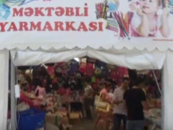 Məktəbli ləvazimatlarının yarmarkaları açıldı - Yarmarkalarla mağzalar arasında qiymət fərqi - VİDEO