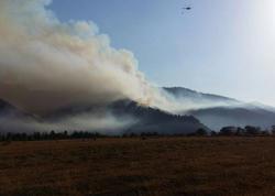 FHN-in helikopteri Gürcüstanda meşə yanğınlarının söndürülməsi əməliyyatına qoşuldu - FOTO