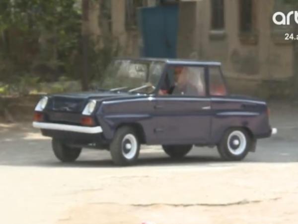 Sumqayıtda 47 yaşlı 20 minlik retro avtomobil - VİDEO - FOTO