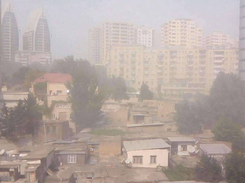 Bakıda toz dumanının səbəbi bilindi - Təhlükəli toz bir az da artacaq