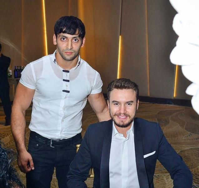 Mustafa Ceceli Bakıda biznesmenin oğlunun toyunda - FOTO