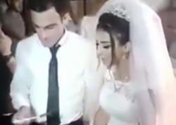 Azərbaycanda bəy toyda biabırçılıq etdi - VİDEO