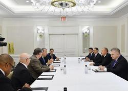 Prezident İlham Əliyev Nyu-Yorkda bir sıra görüşlər keçirib - YENİLƏNİB - FOTO