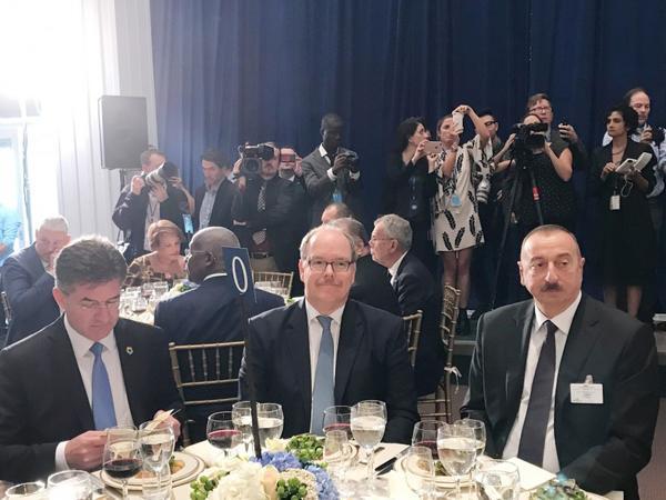 Prezident İlham Əliyev BMT-nin baş qərargahında rəsmi dövlət naharında iştirak edib - FOTO