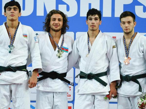 Cüdoçularımız Avropa çempionatında bir qızıl və bir gümüş medal qazandı - FOTO