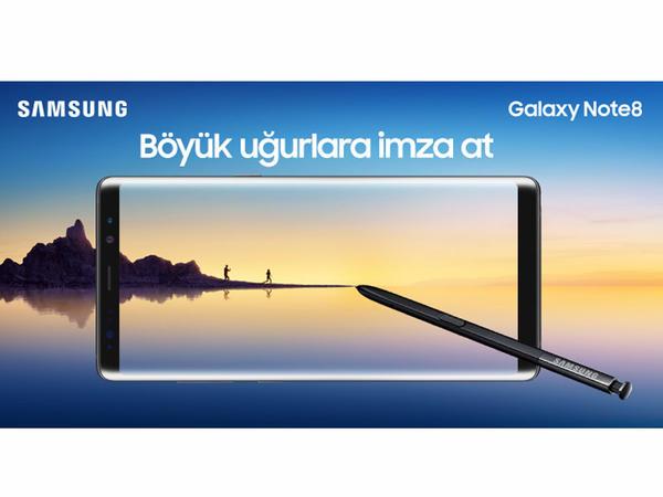 """""""Yeni Samsung Galaxy Note 8 - sərhədsiz hərəkət azadlığını hiss et"""""""