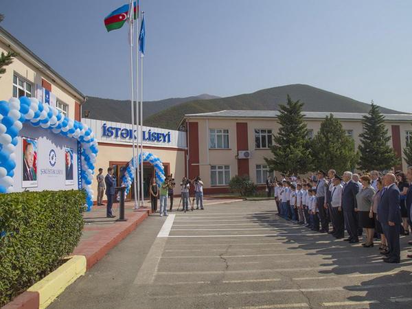 Şəki İSTƏK liseyinin açılış mərasimi olub - FOTO