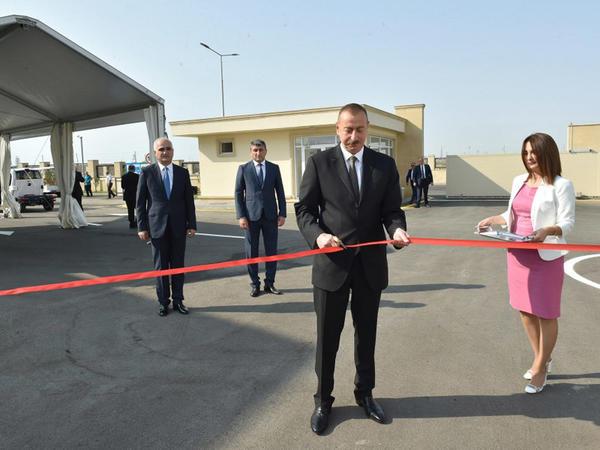 Prezident İlham Əliyev Balaxanı Sənaye Parkının açılışında iştirak edib - FOTO