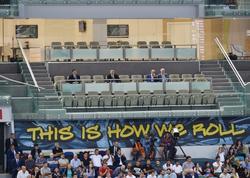 Prezident İlham Əliyev voleybol üzrə milli komandamızın oyununa baxıb - YENİLƏNİB - FOTO