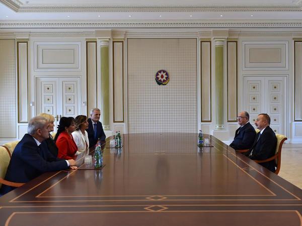 Prezident İlham Əliyev Monteneqro Ali Məhkəməsinin sədrini qəbul edib - FOTO