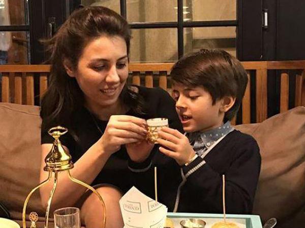 Yeganə oğlu ilə - FOTOLAR