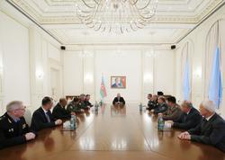 Prezident İlham Əliyev MDB Sərhəd Qoşunları Komandanları Şurasının 78-ci iclasının iştirakçılarını qəbul edib - FOTO