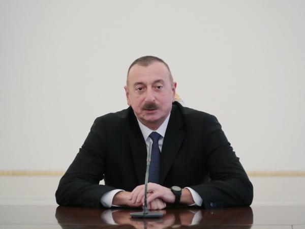 """Azərbaycan Prezidenti: """"Əlimizdən gələni etməliyik ki, təhlükəli elementlər sərhədlərimizdən keçməsin"""""""