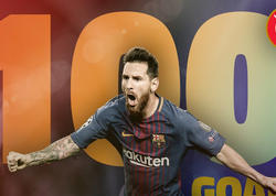 Messi avrokuboklarda 100-cü qolunu vurub - FOTO