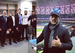 """Zabit Səmədov """"Qarabağ""""ın oyununa baxdı, <span class=""""color_red"""">Qurban Qurbanovla görüşdü - VİDEO - FOTO</span>"""