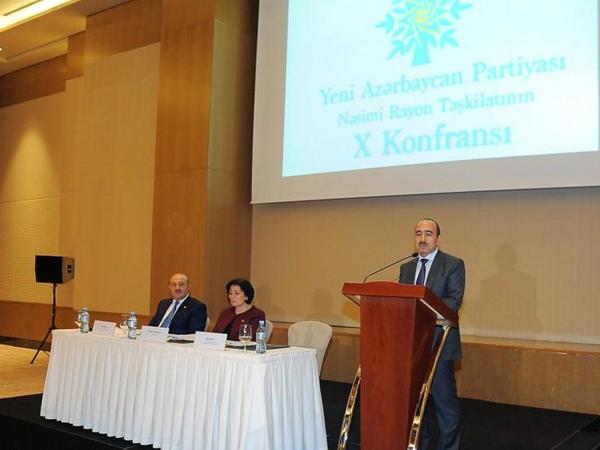 """Əli Həsənov: """"Yeni Azərbaycan Partiyası partiya-lider-xalq birliyi yaradıb"""" - FOTO"""