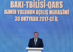 """""""Bakı-Tbilisi-Qars dəmir yolu mövcud iqtisadi reallıqları dəyişəcək"""""""